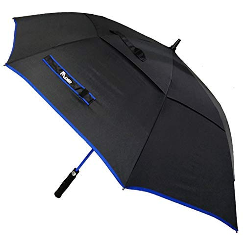 (midier 60 Inch Golf Umbrella Large Oversize Automatic Open & Close Double Canopy Vented Windproof Waterproof Umbrellas with Ergonomic Rubber Handle,Stick Umbrella Protection from Rain, Wind and Sun)