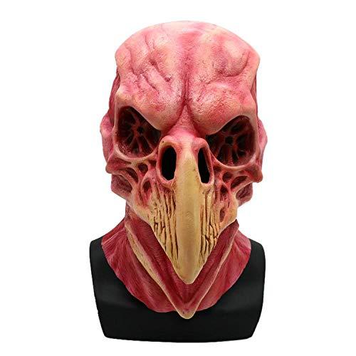 XILALU Halloween 3D Head Mask ,Latex Animal Scary Bird Skull Horror Creepy Cosplay Party Costume Props Decorations -