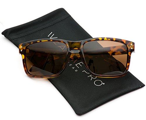 WearMe Pro - Premium Polarized Mirror Lens Classic Wayfarer Style Sunglasses (Tortoise, - Sunglasses Surf Womens