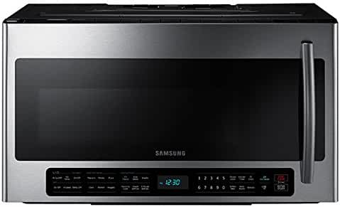 Samsung ME21H706MQS 2.1 Cubic Foot 1100 Watt Over the Range Microwave
