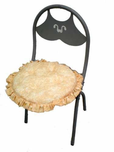 Cuscini Per Sedie Cucina Rotondi.Six Round Cushions For Chair Set In Fabric Marble Effect Amazon