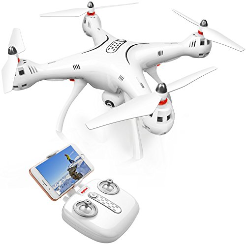 DoDoeleph Syma GPS Drone X8Pro One Key Return Home Quadcopter UFO Upgraded with Adjustable Wide-Angle 720P HD WIFI Camera- Follow Me by DoDoeleph