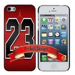 817ee4432fed Michael Jordan 23 Red Chicago Bulls Jersey iphone 5 5s Case  Amazon.co.uk   Electronics