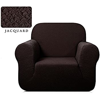 Superieur TOYABR 1 Piece Seersucker Jacquard Stretchy Fabric Dinning Room Sofa  Slipcovers Fitted Sofa Protector (