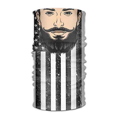 (Sports & Casual Headwear Beard Series Headwear For Men And Women-Yoga Sports Travel Workout Wide Headbands,Neck Gaiter,Bandana,Helmet Liner,Balaclava,Hair)