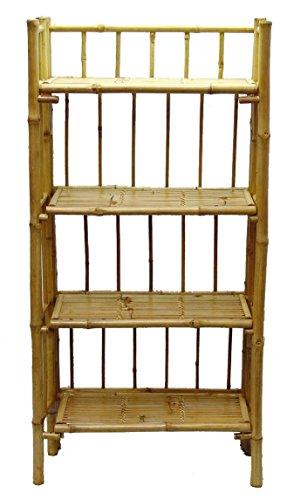 (Bamboo Exotic Shelf w 4 Tier Configuration)