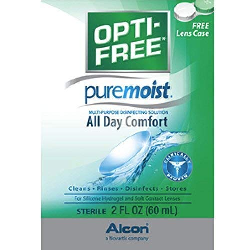 Contact Alcon Solution Lens (OPTI-FREE Pure Moist Multi-Purpose Disinfecting Solution, All Day Comfort 2 oz ( by Opti-Free)