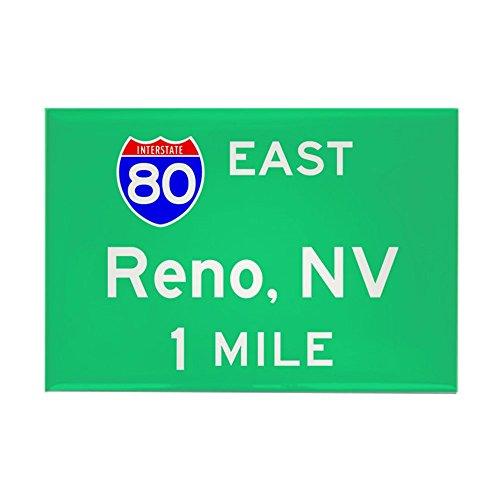 CafePress Reno Exit Sign Rectangle Magnet Rectangle Magnet, 2