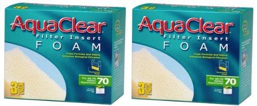 Aquaclear Foam Inserts, 6-Pack for Aquaclear Model #70 by Hagen