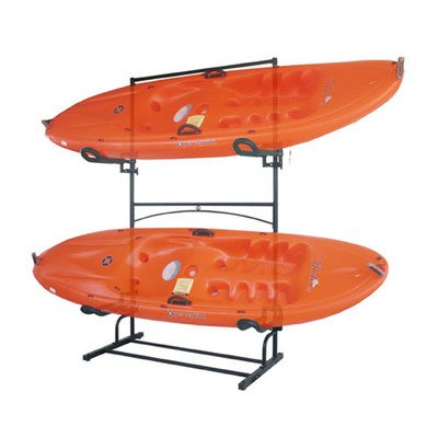 KC-222 Stoneman Sports Sparehand port Plus Freestanding Single Sided 2 Kayak/Canoe Storage Rack