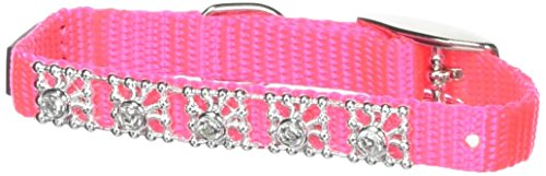 Li'l Pals Neon Pink Jeweled Dog Collar,  5/16 in.