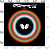 Butterfly Tenergy 25 Table Tennis Rubber Sheet | 1.7 mm, 1.9 mm, or 2.1 mm | Red or Black | Professional Table Tennis Rubbers | 1 Inverted Table Tennis Rubber Sheet