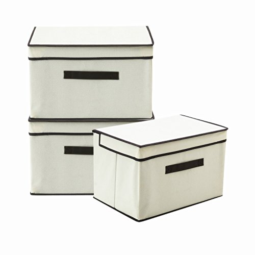 fabric cube bins with lids - 9
