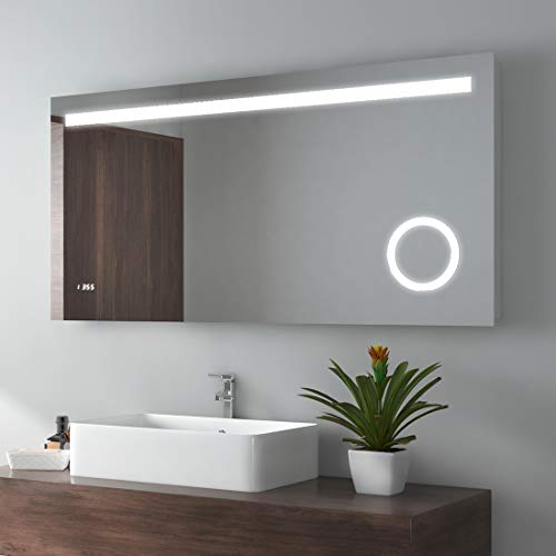 Meykoe 48 x 24 inches LED Lighted Bathroom Mirror Wall Mounted Vanity -