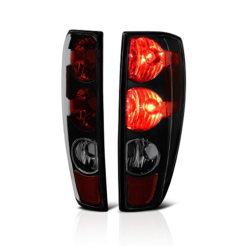 VIPMOTOZ Black Smoke Euro Style Tail Light Lamp Assembly For 2004-2012 Chevy Colorado & GMC Canyon, Driver & Passneger Side