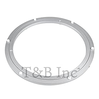 Amazing Tu0026B 12 Inch Diameter Aluminum Metal Lazy Susan Hardware Rotating Turntable  Bearings Swivel Plate 300mm Silver