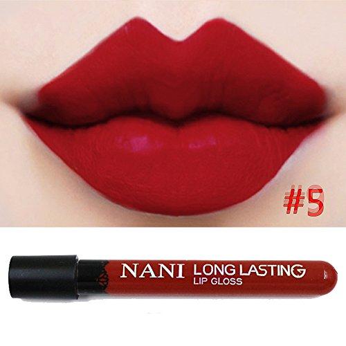 Neverland Beauty Matte Colour Lipstick Liquid Makeup Lip Gloss Pencil Waterproof Red Color Series 5#