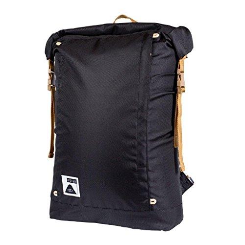 Poler Unisex Rolltop Backpack, Black, One (Roll Skate Backpack)