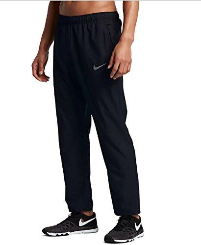 Nike Men's Team Woven Pants Black/Grey Training Sweatpants (Small) ()