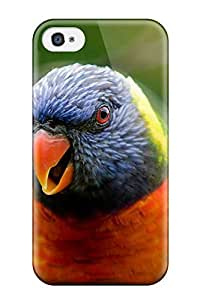 CaseyKBrown Iphone 4/4s Hybrid Tpu Case Cover Silicon Bumper Rainbow Lorikeet Parrot