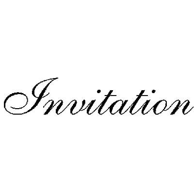 Art Stamps Tampon-Invitation-Script-Noir