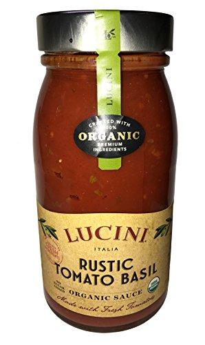 Lucini Italia USDA Certified Organic Rustic Tomato Basil 25.5 oz