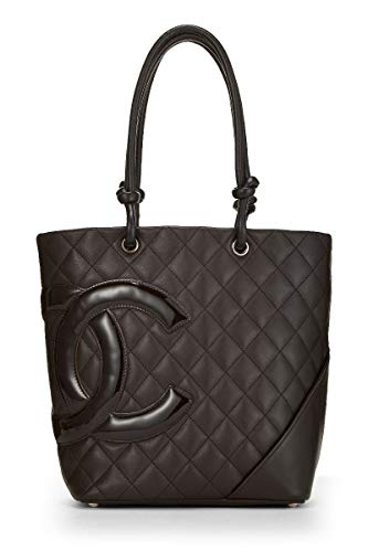 b3dcc6d3237e CHANEL Brown Quilted Calfskin Cambon Ligne Tote Medium for sale Delivered  anywhere in USA