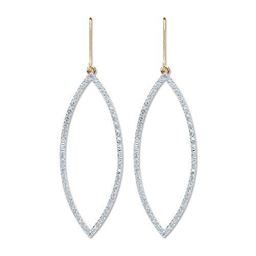 Jareeya-9ct or jaune 0,30CT Diamant Boucles d'oreilles pendantes