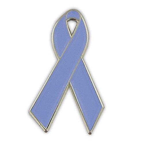 PinMart Periwinkle Blue Awareness Ribbon Enamel Lapel Pin