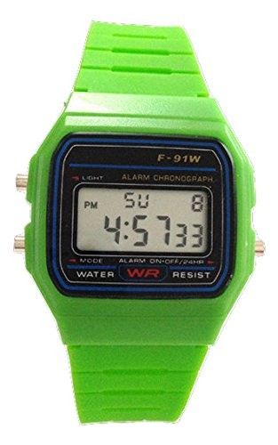 AccessoriesBySej® Niños reloj de la vintage retro color mixto - cuadrante 3,2 cm - disponible en ...