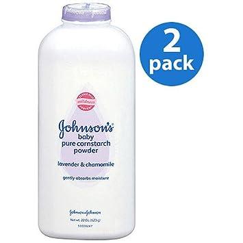 amazon com johnson s pure cornstarch baby powder with lav