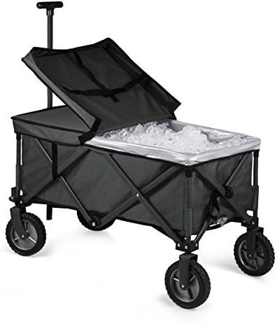 Adventure Wagon Portable Utility Wagon, ONIVA a Picnic Time brand Ohio State Buckeyes Dark Gray