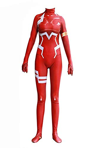 Zero Two Ichigo Darling in The Franxx Cosplay Costume | Bodysuit Suit Anime Zentai Suit (Medium, Zero Two) ()