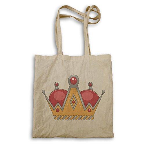 Krone König Queen Art lustige Neuheit Tragetasche a571r