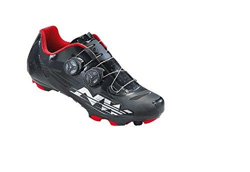 Northwave BLAZE PLUS Strada scarpa SPD nero-bianco-rosso