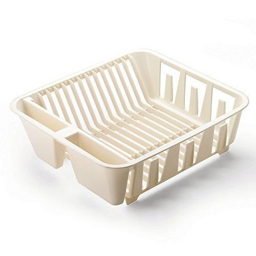 Rubbermaid Antimicrobial In-sink Dish Drainer, Small, Bisque New