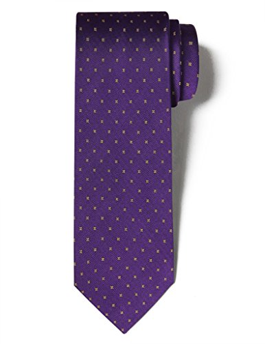 Origin Ties Silk Handmade Tie Men's Fashion Floral Square Polka Dots Necktie Purple