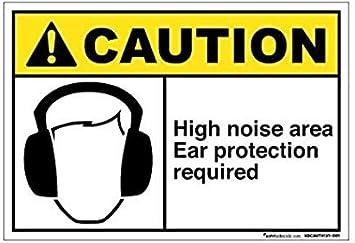 High Noise Area Hearing Protection  Vinyl Sticker Decal Window Car Van Bike 2797