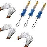 French Horn Mouthpiece Cleaning Brush - Mouthpiece Cleaner for Better Tone Production & Polish Gloves - 3 Pack