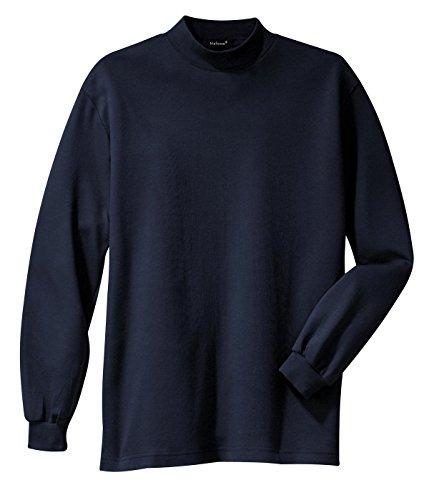 Mens Interlock Turtleneck Cotton (Mafoose Men's Interlock Knit Mock Turtleneck Sweaters Navy M)