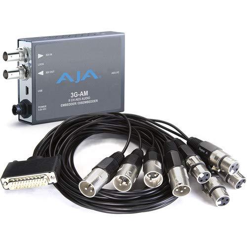 (AJA 3G-AM 3G-SDI 8-Channel AES Embedder/Disembedder (XLR) Mini Converter )