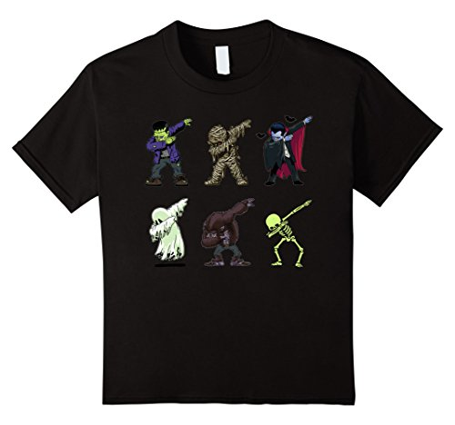 Dabbing Skeleton Shirt Halloween Monsters Dracula Ghost Tee