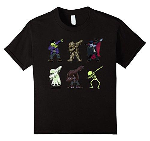 Dabbing Skeleton Shirt Halloween Monsters Dracula Ghost Tee