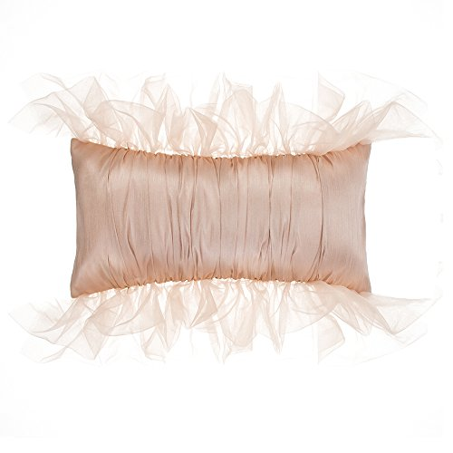 Glenna Jean Remember My Love Pillow, Rectangle, Reversible Pink/Cream Pintuck by Glenna Jean (Image #4)