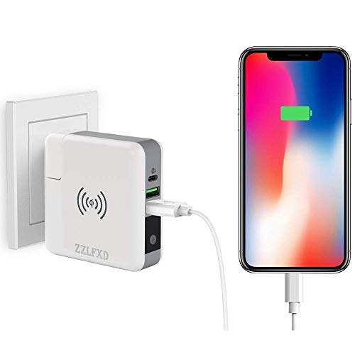 Wireless Portable Charger,Wireless Charger Power Bank 6700mAh USB & USB Type C Support LED QI Battery Charger Pad External Battery Pack for iPhone 8/8 Plus,Samaung S7 S8 S9,Note 7 8,iPhone X by LFXD (Image #3)