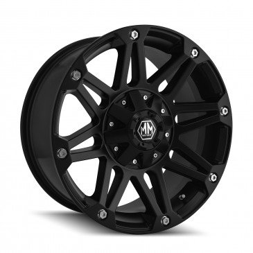 Mayhem Riot 17 Black Wheel / Rim 5x4.5 & 5x5 with a 10mm Offset and a 78.3 Hub Bore. Partnumber 8010-7856MB10 (1999 Ford Explorer Rims compare prices)