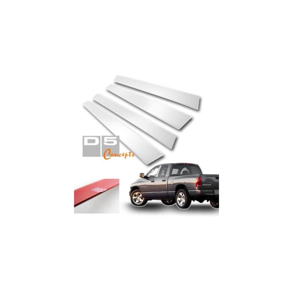 02 07 Dodge Ram Crew Cab Door Pillar Post Trim   Chrome