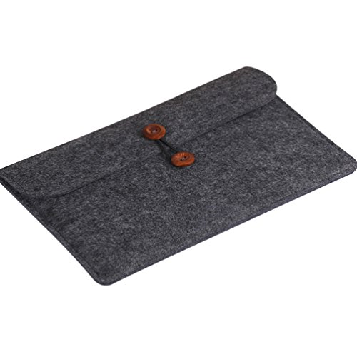YiJee Funda Blanda para Ordenador con Bolsa Sleeve para Portatiles 15.4 Pulgada Negro