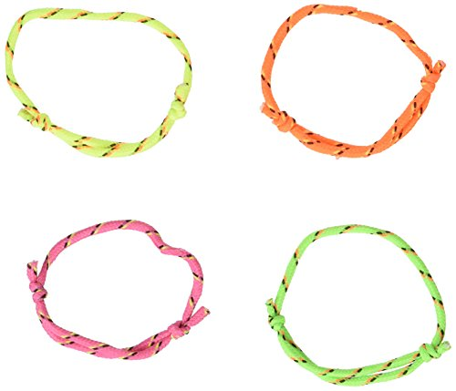 Rhode Island Novelty 144 (1 Gross) Neon Rope Friendship Bracelets New -