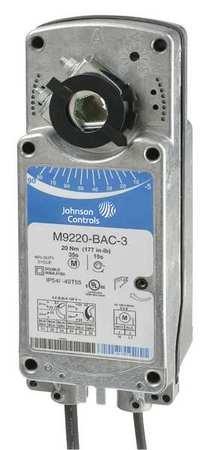 Johnson Controls M9220-GGA-3 M9220 Series Electric Spring-Return Actuator, Proportional, 24 Vac ()